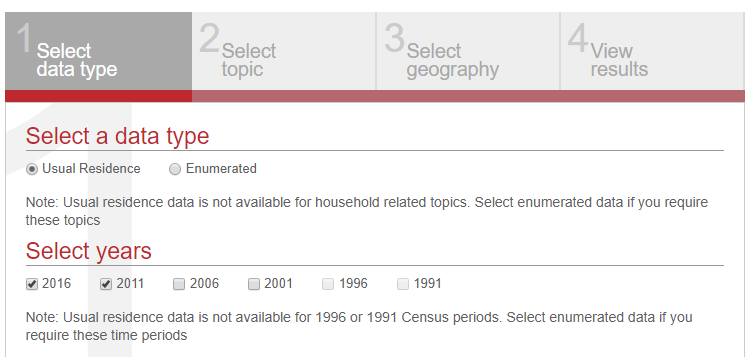 The community profile tool now has 2016 Census data in the data exporter