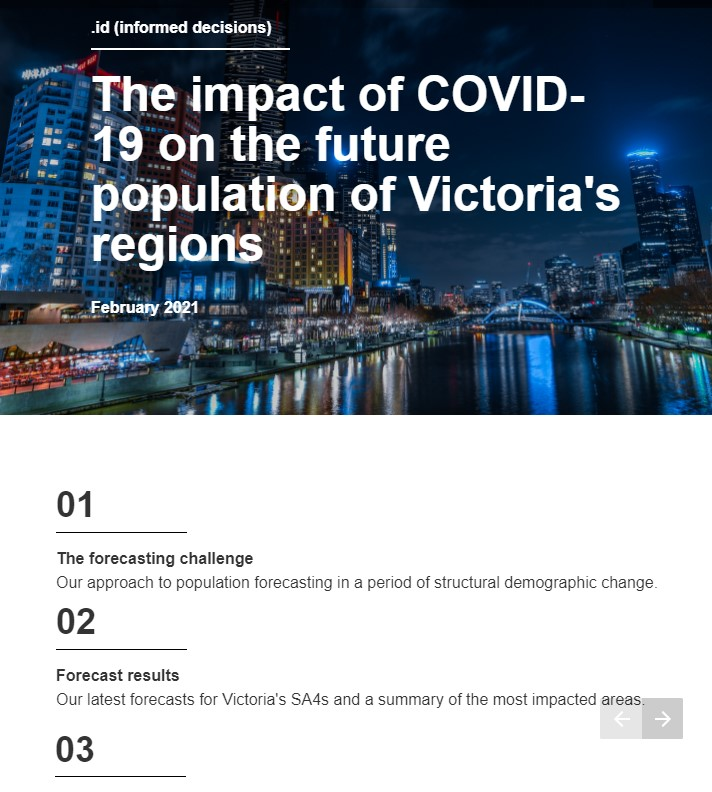 Covid-adjusted regional forecasts for Victoria